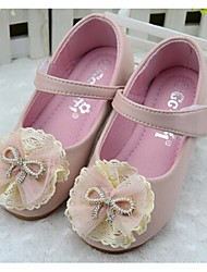 Girls' Shoes Dress / Casual Comfort PU Flats Pink / White