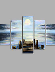 Ручная роспись Пейзаж Modern,5 панелей Холст Hang-роспись маслом