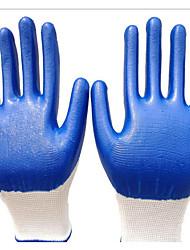 nylon blanc huile de gants en nitrile bleu gants de protection résistants aux coupures