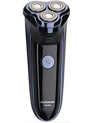 Electric Shaver Men Face Electric / Rotary Shaver Pop-up Trimmers / Pivoting Head / LED Light Stainless Steel FLYCO