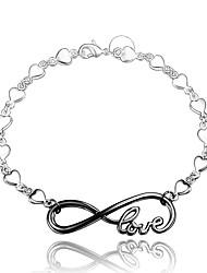 Bracciali Bracciali a catena e maglie Argento sterling Lettere dell'alfabeto / Amore Di tendenza / VintageMatrimonio / Feste / Quotidiano