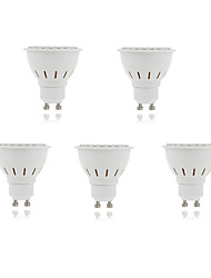 5pcs 5W 2835X80SMD GU10/MR16 Warm Cool White Color Plastic Shell LED Spot Lights(AC220-240V)