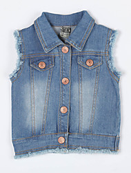Girl's Casual/Daily Solid Jeans / Vest,Cotton Fall Blue