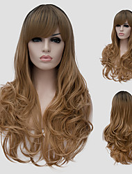 Flax micro volume long hair and the wind nightclub performances Street color million with a partial wig.