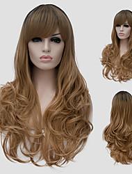 cheveux longs micro de volume lin et le vent discothèque rue des performances couleur millions avec une perruque partielle.
