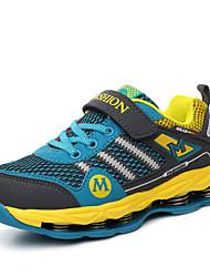 Feminino-TênisRasteiro-Amarelo Roxo Azul Real-Couro Ecológico-Ar-Livre Casual Para Esporte