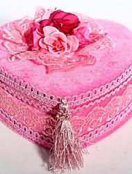 High-grade Velvet Heart-shaped Jewelry Box European-style Jewelry Storage Box