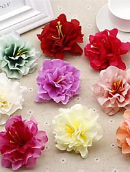 1 1 Ramo Poliéster / Toque real Peônias Flor de Mesa Flores artificiais 3.1inch/8cm