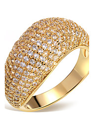 Latest Designed Bridal Wedding Ring 201 Pieces Cubic Zircon Lead Free Brass Made Women Fashion Ring 18K Gold Plated