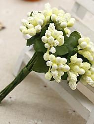 12 Rama Seda / Plástico Fruta Flor de Mesa Flores Artificiales