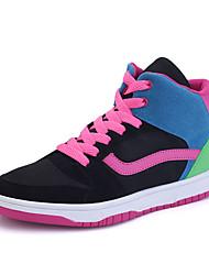 Women's Sneakers Spring / Summer Comfort Tulle Casual Flat Heel  Black / Blue / Royal Blue Walking