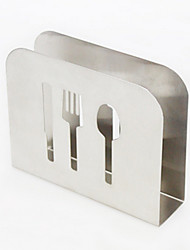 Stainless Steel Knife Fork Freestanding Countertops Paper Towel Holder Holds Stand Kitchen Tool