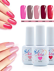 Vernis Gel UV 15ml 8picecs/set Gel de Couleur UV Gel de Finition UV Couche de Finition Couche de Base TransparentFaire tremper Longue