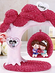 Students Birthday Gift Resin Cartoon Romantic Couple Swinging Decoration