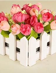 1 1 Ast Kunststoff Rosen Tisch-Blumen Künstliche Blumen 5.9*5.5inch/15*14cm