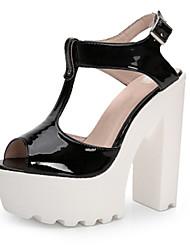 Women's Shoes Patent Leather Chunky Heel Heels / Peep Toe / Platform Sandals Wedding / Party & Evening /