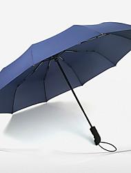 Rojo / Negro / Azul / Marrón / Morado Paraguas de Doblar Soleado y lluvioso textil Viaje / Lady / Hombre