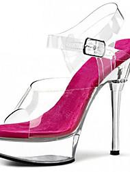 14CM transparent circle drill / Fall Heels / Platform / Sandals PVC Wedding / Party & Evening/Dress/Casual Stiletto Heel