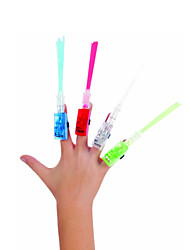 10-Pack LED Fiber Optic Finger Beam Light Luminous Ring Lights Party Favor