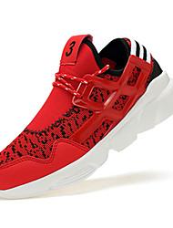 Chaussures Hommes-Extérieure / Sport-Noir / Rouge / Blanc-Tulle / Similicuir-Sneakers
