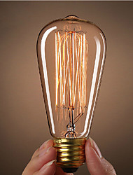HRY® ST64 E27 40W Incandescent Vintage Edison Light Bulb For Restaurant Club Coffee Bars Light(220-240V)