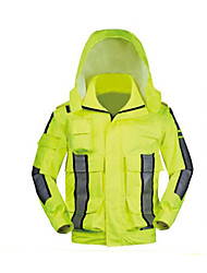 Reflective Raincoat Jacket Outdoor Multifunctional Fluorescent Yellow Lettering