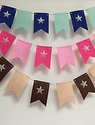 The Flags Dress Up Party Supplies Holiday Party Spent Kindergarten Children Room Decoration Stars Felt