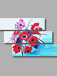 "Stretched (Ready to hang) Hand-Painted Oil Painting 48""x36"" Canvas Wall Art Modern Abstract Red Pink Blue"
