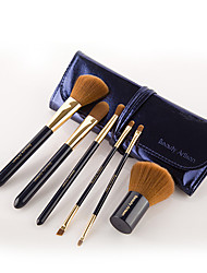 Beauty Artisan  6 Makeup Brushes Set Synthetic Hair Portable Wood Face Others