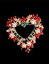 moda austríaco cristal broches de Natal broche papai noel esqui na neve broche para as mulheres do sexo feminino