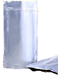sacos de alumínio perspectiva dependência zíper de sacos de folha de alumínio óssea ziplock bolso comida um pacote de pó selada dez
