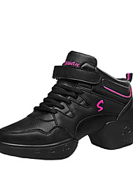Non Customizable Women's Dance Shoes/ Modern Boots / Sneakers Low Heel Practice / OutdoorBlack /