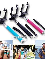 2in1 Extendable Handheld Selfie Stick Monopod and Bluetooth Remote Shutter for iPhone/iPad and Others(Assorted Colors)