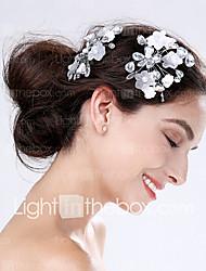 Femme Acrylique / Plastique Casque-Mariage / Occasion spéciale Fleurs 2 Pièces Argent Poire 0
