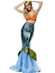 Girl Mermaid Tail Party Fancy Dress Halloween Costume