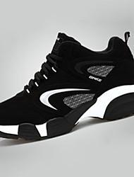 Da donna-Sneakers-Tempo libero Casual SportivoPiatto-PU (Poliuretano)-Argento Nero e rosso