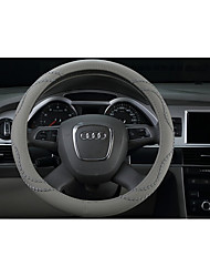 Automobile Steering Wheel Cover, Fine Leather Pattern Automobile Steering Wheel Cover, Diameter 38cm