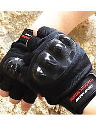 moto gants d'équitation demi-doigts des gants épais vêtements anti-dérapant escalade formation