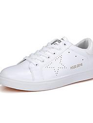 Femme-Décontracté / Sport-Noir / Blanc / Noir et blanc-Talon Plat-Ballerines-Sneakers-Polyuréthane
