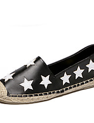 Women's Flats Fall Round Toe / Flats PU Casual Flat Heel Others Black / White Others