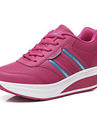 Women's Sneakers Fall Crib Shoes PU Athletic Flat Heel Lace-up