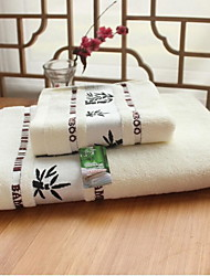 Jacquard Short Bamboo  Fiber Gift Boxes Set Of Towels