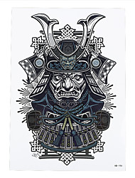 1pc Japanese Samurai Warrior Women Men Body Art Tattoo Temporary Tattoo Sticker HB-194