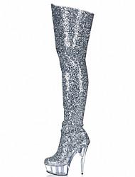 Черный Синий Фиолетовый Серебристый Золотистый-Женский-Для прогулок Для праздника Для вечеринки / ужина-Материал на заказ клиента-На
