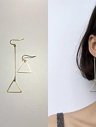 Feminino Brincos Compridos Moda Incompatibilidade Liga Forma Geométrica Triangular Jóias Para Casamento Diário Casual