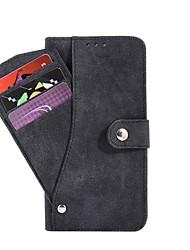 Ganzkörper Brieftasche / Kartenhalter Einheitliche Farbe PU - Leder Hart Fall-Abdeckung für Samsung Galaxy Note 7
