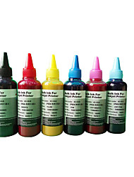 Sublimation Ink 100ML,A Pack Of 6Boxes, Each Box Different Colors,Black,Red, Yellow, Blue, Light Red, Light Blue