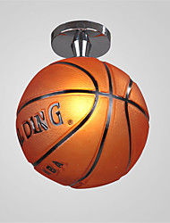 Modern Basketball Ceiling Lamp Flush Mount Glass Living Room Bedroom Restaurant Kitchen Hallway Kids Room Light Fixture