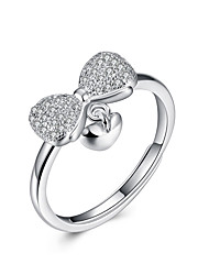 Fine Sterling Silver Butterfly Diamond Statement Ring for Women Wedding Party