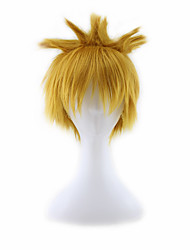 Women/Men's Short Blonde Mixed  Cosplay Wigs Free Hairnet